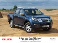 ISUZU D-MAX SCOOPS PICK-UP OF THE YEAR AWARD